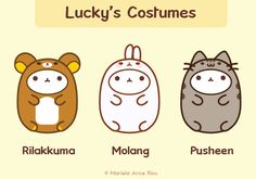 Costumes: Rilakkuma, Molang, Pusheen