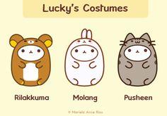 Costumes: Rilakkuma, Molang, Pusheen
