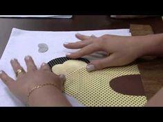 Diy Bee Tableset so cute!  ▶ Mulher.com 31/10/2014 - Pano prato abelhinha 3d pintura por Priscila Muller Parte 1 - YouTube
