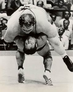 Chris Taylor weighed over 400 pounds and got suplayed and pinned by Wilfried Dietrich of West Germany in the 1972 Olympics.