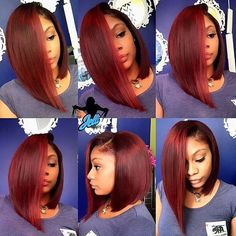 35 Red Hair Color for American Women!Red hair color is very popular for many years. A girl with red hair will never go unnoticed. Sew In Hairstyles, Straight Hairstyles, Short Hair Styles, Natural Hair Styles, Bob Styles, Bobe, Hair Laid, Red Hair Color, Love Hair