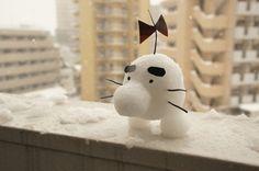 各地で力入れすぎな「雪だるま」