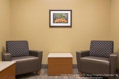 Family Waiting Area inSt. Mary's Hospital in Nebraska City Architectural and Framed Art by KJP http://www.kurtjohnsonphotography.com/