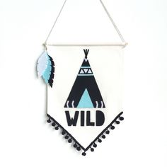 Image of WILD teepee banner