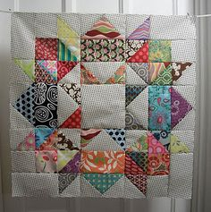 Swoon block **Let's be honest this looks time consuming, but I like how it looks, very geometric and symmetrical!-Rose**