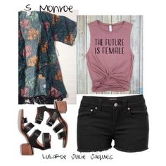 LuLaRoe Outfit featuring the LuLaRoe Monroe Kimono. Something about this outfit just makes me swooon... LOVE it.