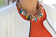 Colorful statement necklace from Zara