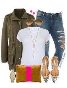 Plus Size Outfit Idea - Plus Size Skinny Jeans - Plus Size Fashion for Women - alexawebb.com #alexawebb