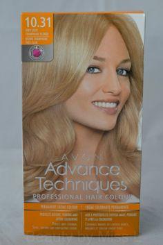 AVON Advance Techniques Professional Hair Colour 10.31 Very Light Champagne Blonde