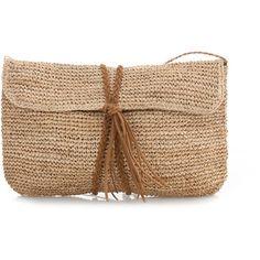 Scoop Raffia Crochet Clutch