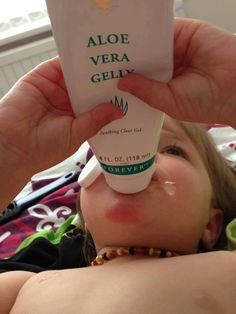 Does your child suffer badly when teething why not try Aloe Vera Gelly to help sooth the gums 100% natural and safe for children x
