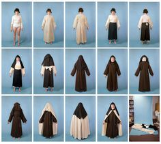 """""""Self-Portrait as a Discalced Carmelite Nun"""" makes clear the lengthy process a traditionally garbed nun undertakes in dressing each day."""