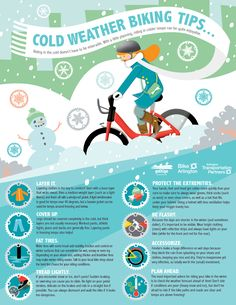 Cold Weather Biking Tips: Winter Biking Tips Infograph Cycling Tips, Cycling Workout, Bike Workouts, Bicycle Workout, Swimming Workouts, Swimming Tips, Cycling Quotes, Winter Driving Tips, Commuter Cycling