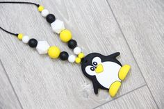 Nursing and Teething Silicone Necklace with pendant от TeetherLand