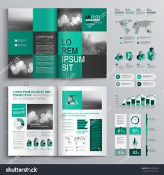 Cool Marketing Brochure Templates Set Marketing Strategies - Marketing brochures templates