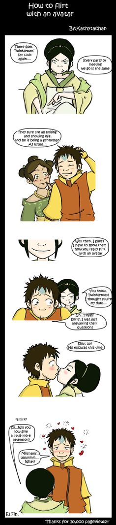 How to flirt with an avatar by ~Kathytachan on deviantART Because there has to be some Taang fans somewhere