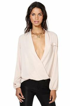 Chandler Wrap Blouse - Pink | Shop Clothes at Nasty Gal