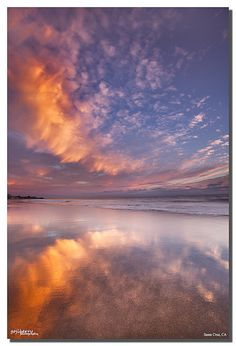 Glassy Reflection at Twin Lakes beach, Santa Cruz, CA by james wang photography - wangjam, via Flickr