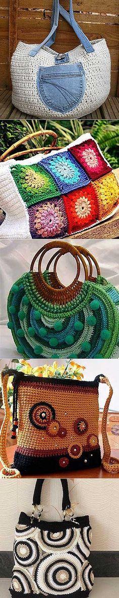Вязаные сумки своими руками: 30 красивых идей | Домохозяйки