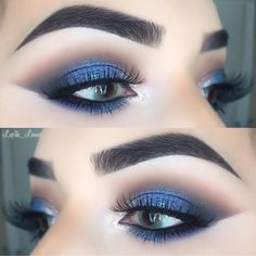 "1,334 Likes, 10 Comments - LUXY LASH (@luxylash) on Instagram: ""💙Smokey blue glam by ✨@lupita_lemus✨ wearing #LuxyLash ""KEEP IT 100"" lashes! Ultra wispie lashes &…"""