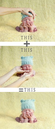 newborn - so many of my clients ask about this! and do it only when a photographer is there to help!