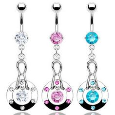 Obliging 925 Sterling Silver Clear Flower Tear Drop Cz 316l Surgical Steel Belly Bar Ring Jewelry & Watches