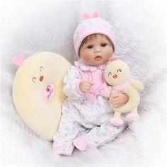 NPK 17\'\' Realistic Handmade Reborn Baby Doll Soft Silicone Vinyl Lifelike Newborn