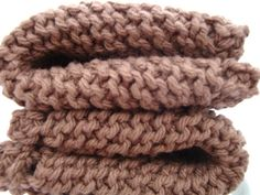 Knitted Dish Cloth Wash Cloth Brown for kitchen & by CherylsKnits, $6.00
