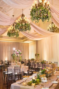 The greenery and florals at Michelle and Paul's wedding were stunning - and took a lot of time and hard work! Taunton Ballroom Photo Credit: Melanie Rebane Photography