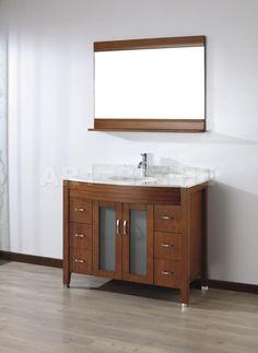 Art Bathe Alba 42 Classic Cherry Bathroom Vanities, Solid hardwood construction  $1899.00