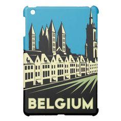 belgium art deco retro travel poster case for the iPad mini.  $46.10