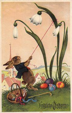 Fritz Baumgarten Easter Art, Easter Crafts, Easter Bunny, Vintage Cards, Vintage Postcards, Baumgarten, Easter Parade, Bunny Art, Easter Celebration