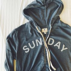 """Sundry """"Sunday"""" Zip Up Hoodie •Relaxed zip up hoodie that says """"Sunday"""".  •Sundry Size 2 = Medium.  •New with tag.  •NO TRADES/PAYPAL/MERC/VINTED/NONSENSE.  •PLEASE USE OFFER FEATURE IF YOU WANT TO NEGOTIATE PRICE. Sundry Tops Sweatshirts & Hoodies"""