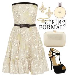 """""""Spring Formal 1243"""" by boxthoughts ❤ liked on Polyvore featuring Valentino, Serpui, Jennifer Meyer Jewelry, Red Circle, R.J. Graziano, Chanel and springformal"""