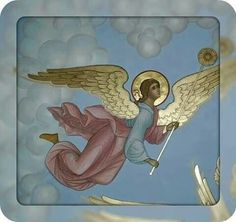 Byzantine Art, Byzantine Icons, Religious Icons, Religious Art, Santa Cecilia, Religious Paintings, Angels In Heaven, Guardian Angels, Angel Ornaments