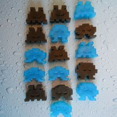 8-bit lather... Black & Blue Space Invaders Soap