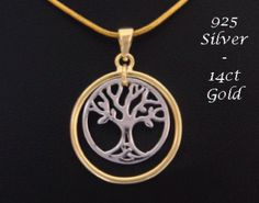 Stunning Tree of Life Pendant in 14ct Gold Vermeil and Sterling Silver - found at https://www.treeoflifejewellery.com.au, https://www.treeoflifejewellery.com and https://www.etsy.com/shop/MyTreeOfLifeJewelry  #treeoflife #treeoflifenecklace #treeoflifejewelry #treeoflifejewellery #celticnecklace #celticjewelry