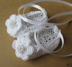 Crochet Newborn Baby Booties Infant Girl Crib Shoes Knit Baby Mary Janes with Bow Baptism Christening Baby Booties Cotton Reborn Doll Shoes Crochet Sandals, Crochet Baby Shoes, Newborn Crochet, Hand Crochet, Knit Crochet, Booties Crochet, Baby Girl Dolls, Baby Girl Newborn, Cute Baby Shoes