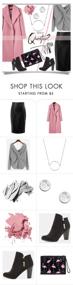 Pink & Grey by mahafromkailash on Polyvore featuring WithChic, Bobbi Brown Cosmetics and Christian Louboutin