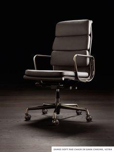 #Eames #SoftPad Chair in Dark Chrome #Vitra
