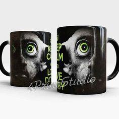 Dobby mug Keep Calm and Love Dobby Color Changing by 4PrintStudio #Dobby #DobbyMug #HarryPotter #KeepCalmAndLoveDobby #DobbyElf #coffeeMug