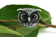 Owl Ring Woodland Rustic Nature Inspired Mythical by rubipotamus, $25.00
