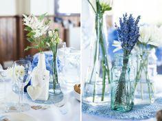 Blue DIY Village Hall Wedding http://www.eleanorjaneweddings.co.uk/
