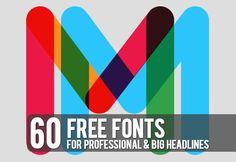 60 Free Fonts For Professional Big Headlines
