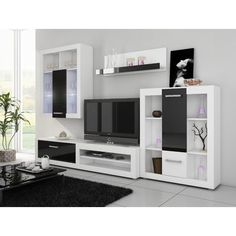 Creative Simple TV Wall Decor Idea for Living Room Design - Pajero is My Dream Tv Unit Furniture, Home Decor Furniture, Living Room Furniture, Furniture Design, Ensemble Mural Tv, Tv Wanddekor, White Storage Cabinets, Tv Wall Decor, Design Salon