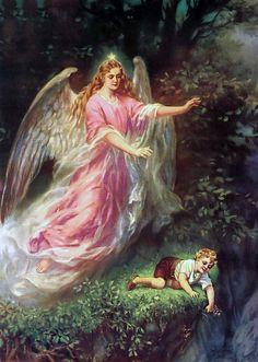 Ангел-хранитель.Винтажные картинки. Обсуждение на LiveInternet - Российский Сервис Онлайн-Дневников