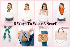 One of my favorite ways to dress up a simple look is by adding a scarf- whether it's with a shirtdress, a sweater and jeans or with a plain white tee. There are also so many different ways to tie and