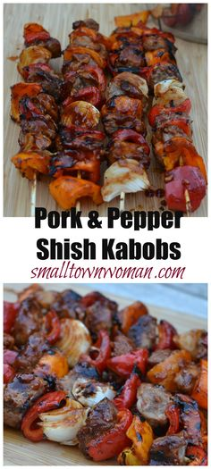 These spicy pork & pepper shish kabobs are a must have recipe. They are easy, remarkably dependable and totally delectable. The sauce can be prepared in a matter of minutes and it combines the flavors of brandy, garlic, soy, mirin and sriracha to give these kabobs the right amount of savory and spice.