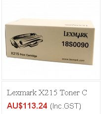 Looking for Lexmark Toner Cartridge for your printer..? eToners offering Lexmark X215 Toner Cartridge in $113.24, we offer FREE shipping on all products in Australia excluding Tasmania & Norfolk Island..!