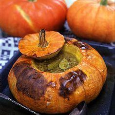 Pumpkin Soup in a Pumpkin Recipe | SAVEUR